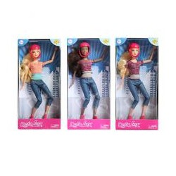 Кукла DEFA 8375-BF  шарнирная, 29см, скейт, шлем, 2цвета, в кор-ке, 15-32,5-5см