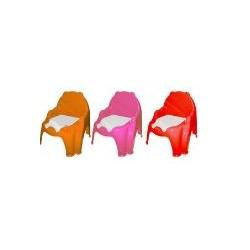 Горшок детский креселко (Оранжевий+Рожевий+Червоний)