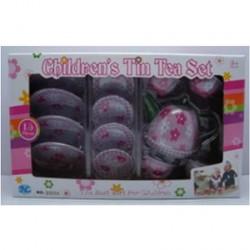 Детский жестяной чайный сервиз 15 предметов
