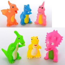 Динозавры AK68248-1 (3шт, пищалка, 2 вида, в кульке, 16-15-5см