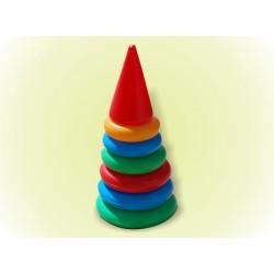 Пирамидка №1 (25см) 6 колец