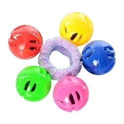 Погремушка 3015 шарики на резинке, в кульке, 9-9-3см