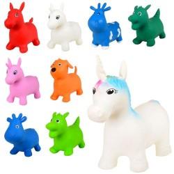 Прыгуны-животные MS 1579 микс вид(единор,коров,лошад,дракон,собак),1200г-1350г,кул, 31-20-9см