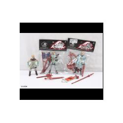 Рыцарский набор 8088B3/808B4 рыцари, оружие, 2 вида, 4 героя, в пакете 13 см
