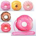 Сумочка х12366 пончик,длинная ручка,застежка-молния,плюш,6видов,1упак12шт,16-15-1см