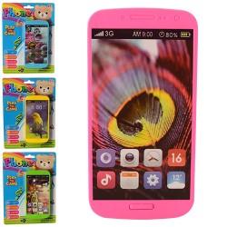 Телефон 6602 6,5-12,5-1см, муз, звук, 4 вида, на бат-ке, на листе, 14-19-1,5см