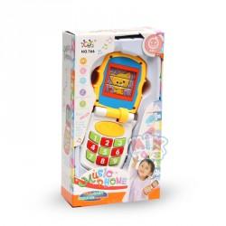 Телефон 766 (15,5см, муз, звук, свет, 3вида, в кор-ке,12-21,5-5см